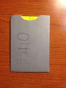 Hotel keycard envelope