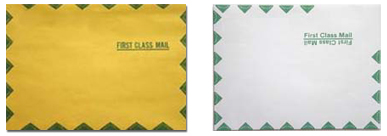 Green Diamond Border Catalog Envelope Printing