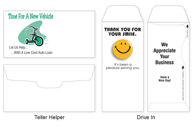 Banking / Drive In / Teller Helper Envelopes