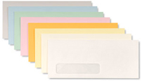 Colored Commercial Window Envelope Printing
