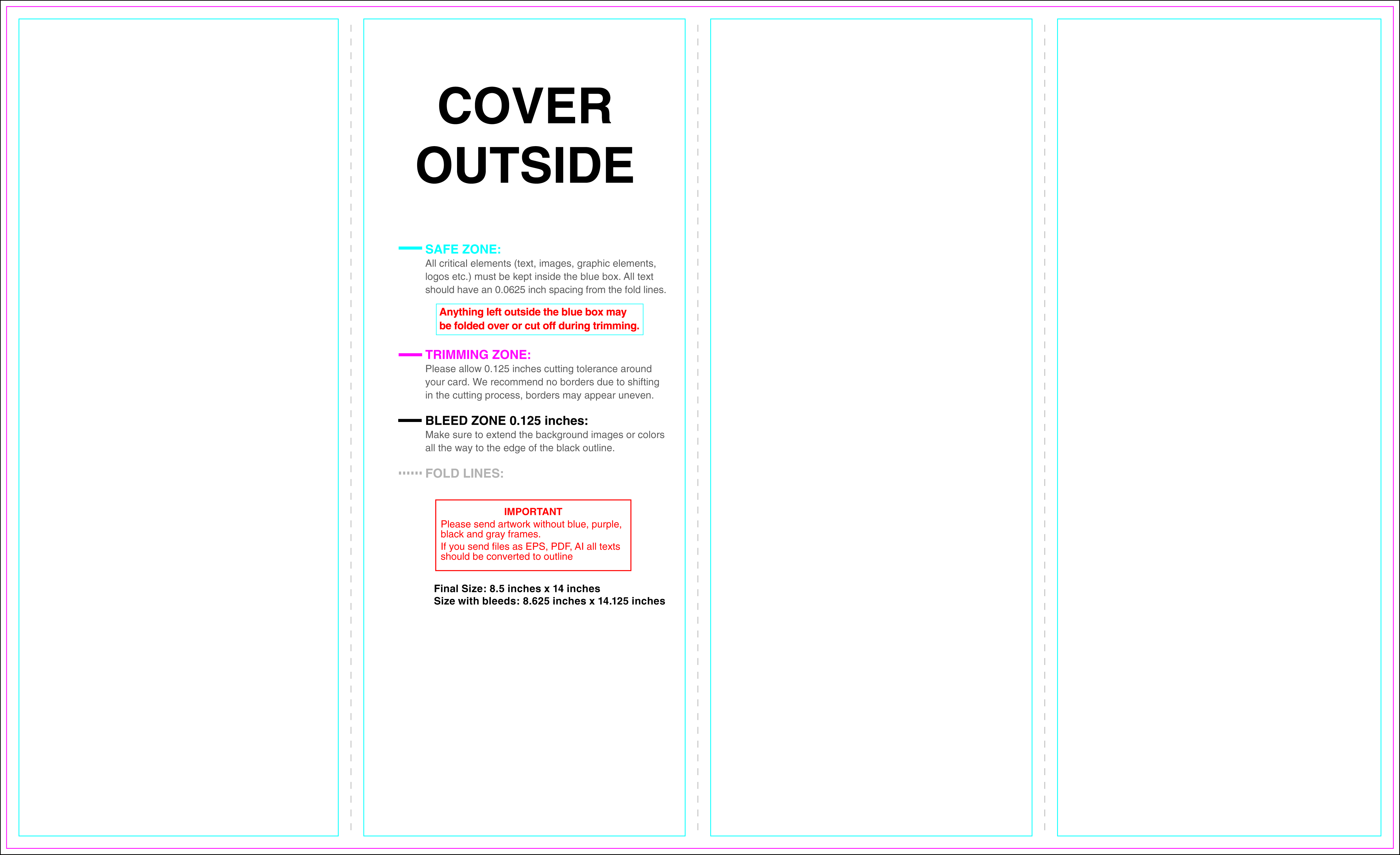 Templates for brochures for 8 5 x 14 brochure template