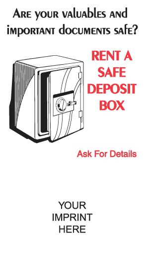 Rent a Safe Deposit Box