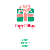 Happy Holidays / Gift with Ribbon
