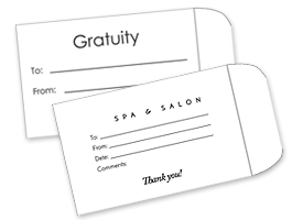 Tip and Gratuity Envelopes